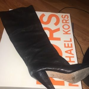 Kors Leather tall boots - can be cuffed